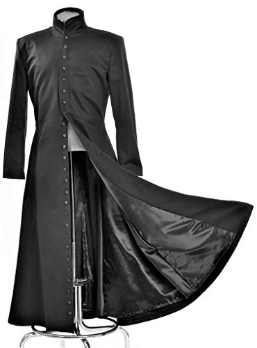 Neo Cosplay Costume Black Long Trench Coat (XL)]()