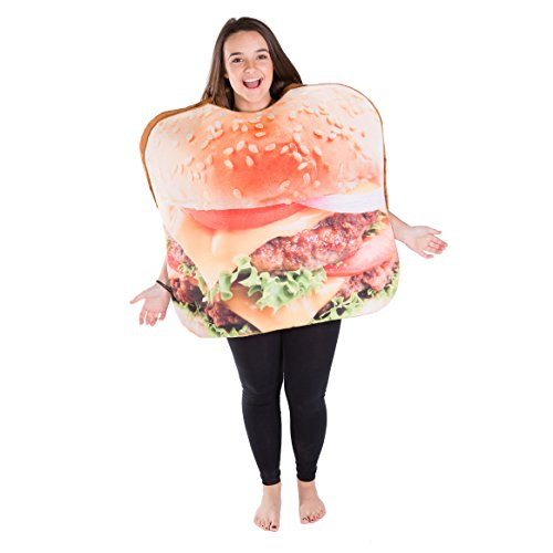 Bodysocks Adult Burger Fancy Dress Costume ()