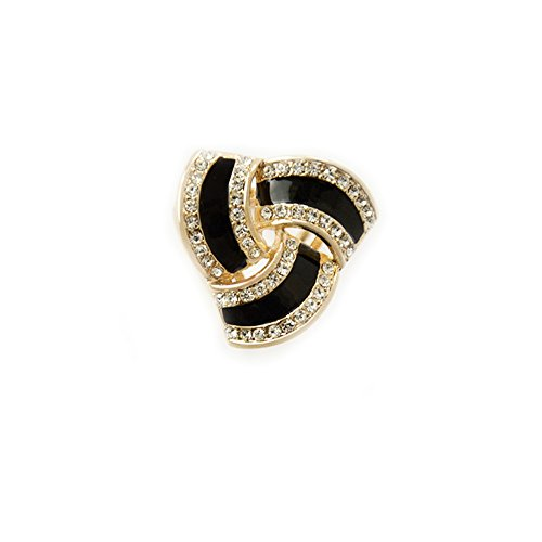 Buckle Fashion Ring (Fashion Scarf Ring Buckle Scarf Clip Triple Slide Jewelry Shiny Clothing)