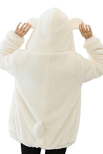 Cappotti Giubbotto Orso Marrone Donna Nero Bianco Felpa con con Finta Ragazza Cappuccio Giacca Orecchie Pelliccia Invernali Giacche Cappotto qUgnPqT47