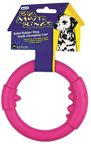 JW Pet Company Big Mouth Ring Single Dog Toy, Large (Colors Vary)