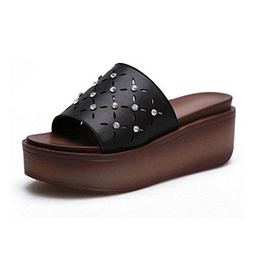 pengweiPente ches fra avec black pantoufles femmes des d'¨¦t¨¦ des FHqrF