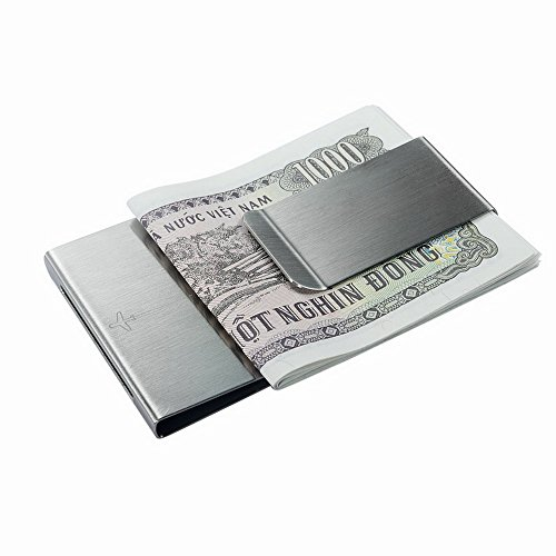 Sided Metal Double Stainless Personality Widened Fashion Vanlemn Money Steel Wallet Clip Money Clip ZYwHxq