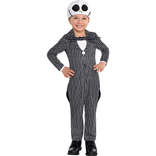 Suit Yourself The Nightmare Before Christmas Jack Skellington Costume for Toddler Boys, Size 3-4T, Includes a Jumpsuit -
