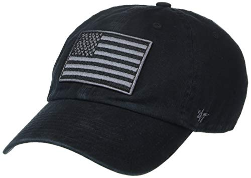 '47 Operation Hat Trick Mens Clean Up Adjustable Hat with Side Embroidery Clean Up Adjustable Hat with Side Embroidery, Black, One Size