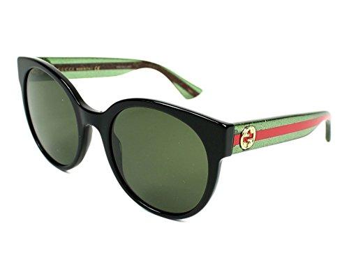 Gucci Women GG0035S 54 Black/Green Sunglasses