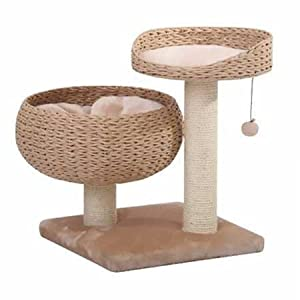 PetPals Paper Rope Natural Bowl Shaped with Perch Cat Tree 57