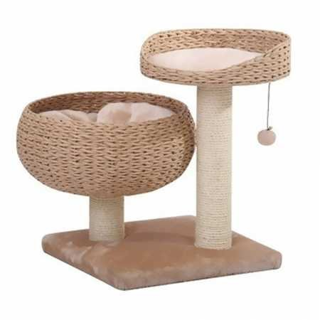 (PetPals Paper Rope Natural Bowl Shaped with Perch Cat Tree)