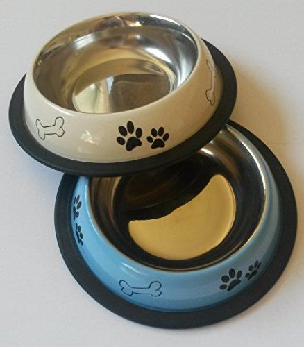 Schulz 21059 - Comedero para perros y gatos pasteles, máximo 16 cm, multicolor