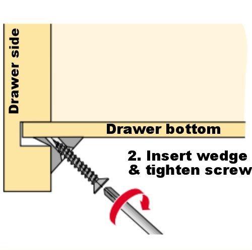 Home Fittings Furniture Drawer Bottom Sagging Repair Fix Mend