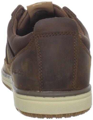 Skechers Wezen Hamal 63418 Blk, Zapatillas, Hombre Marrón (Cdb)