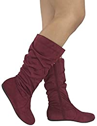 Womens Wonda Boots Soft Slouchy Flat To Low Heel Under...