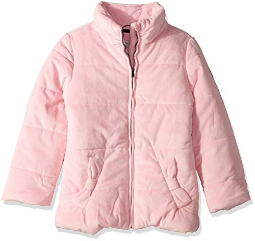 (Calvin Klein Big Girls' Glacial Puffer Jacket, Velour Medium Pink, S7)