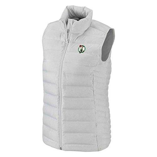 学習劣るに沿ってColumbia Columbia Boston Celtics Women's White Lake 22 Down Full-Zip Vest アウターウェア ジャケット/アウター 【並行輸入品】