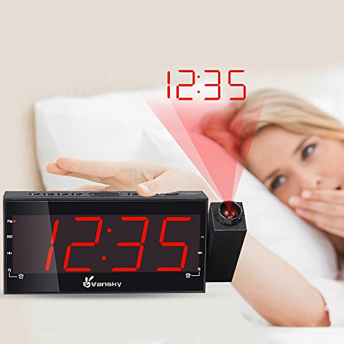 Vansky Digital Projection Alarm Clock Radio With Dimmer 1