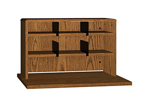 Ironwood 2 Shelves Desk Top Organizer, 29'', Dixie Oak (DTO29DO)