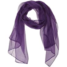Wrapables Solid Color 100% Silk Long Scarf