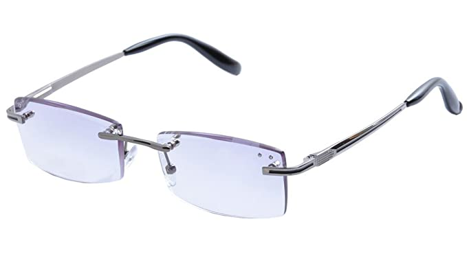 94a1e399c6c4 De Ding Rimless Reading Glasses With Tinted Gradient Lens (gray, 1.00)