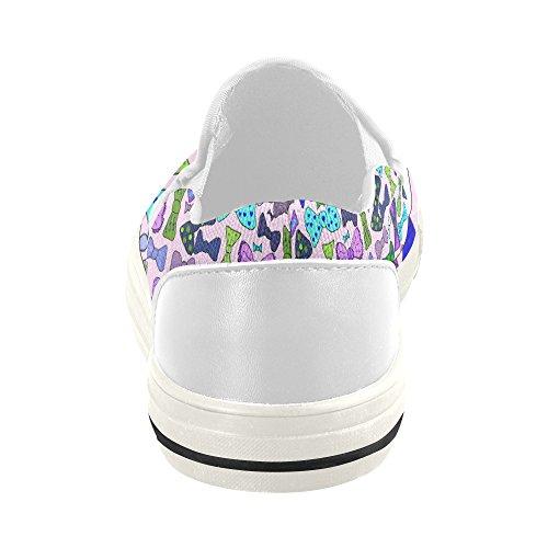 Slip Floral Interestprint Sur Des Chaussures De Toile Pour Les Femmes Bowknot