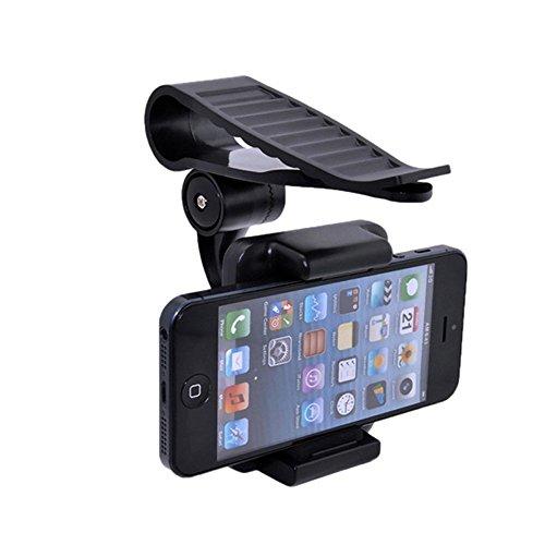 Alotm Universal Car Sun Visor Phone Holder 360 Rotating Moib