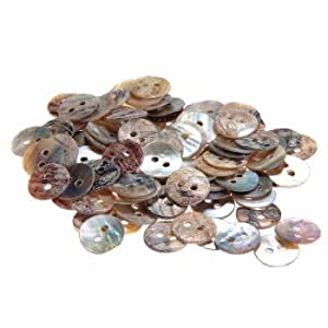 100X 10mm pearl buttons mother of pearl shells round buttons