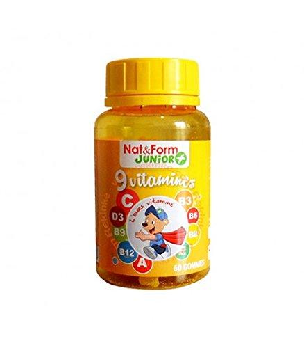 Atlantic Nature - Nat & Form Junior Ours 9 vitamines 60 gommes