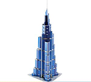 Deal Noon UAE Dubai Burj Khalifa Souvenir Gift 3D Puzzle 51pcs for Kid - World Famous Landmark Architecture Building Puzzles & Model Kits Toys For Adults And Children (UAE, Burj Khalifa)