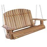 All Things Cedar PS50 Adirondack 4-ft Cedar Garden Swing