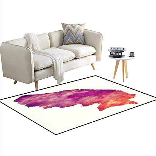 (Area Rugs for Bedroom Terengganu Federal Territory map of Malaysia in Front of a White Background 3'x15')