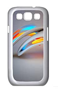 3D Abstract Design Custom Hard Back Case Samsung Galaxy S3 SIII I9300 Case Cover - Polycarbonate - White