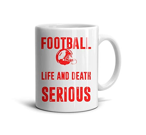 Football Life and Death White Ceramic 11 OZ Coffee or Tea Mugs Inspirational 330ML Coffee Mugs Tea Cup