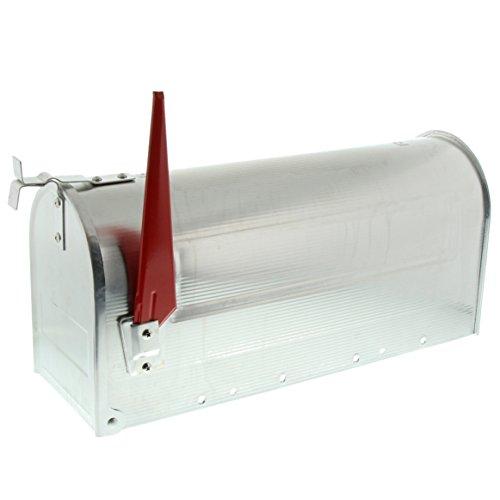 BURG-WÄCHTER, US-Mailbox mit schwenkbarer Fahne, Aluminium, 892 ALU, Aluminium