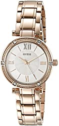 GUESS Women's U0767L3 Petite Rose Gold-Tone Watch