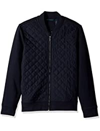 Men's Quilted Nylon Full Zip Jacket