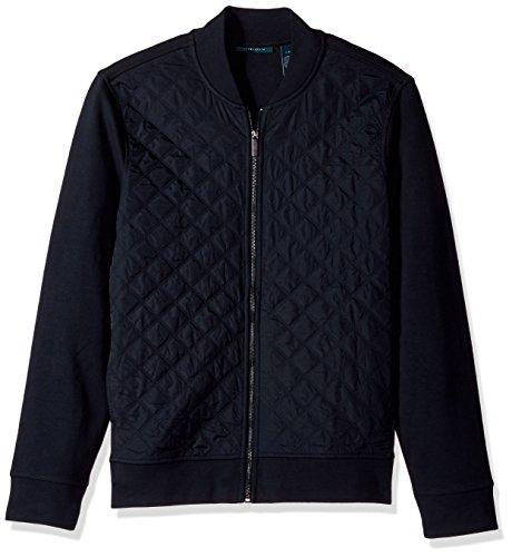 Perry Ellis Mens Quilted Nylon Full Zip Jacket
