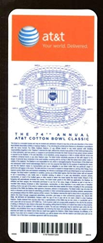 2010 Cotton Bowl Full Ticket Ole Miss Rebels v Oklahoma State 1/2/10 Mint 43740