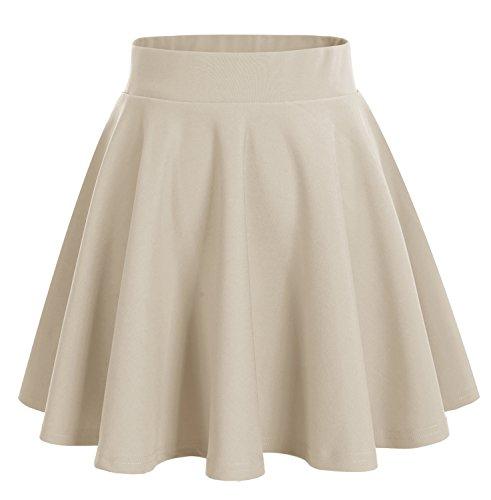 Dresstells Beige en vase Mini Jupe Courte Polyester nAvxqARwC