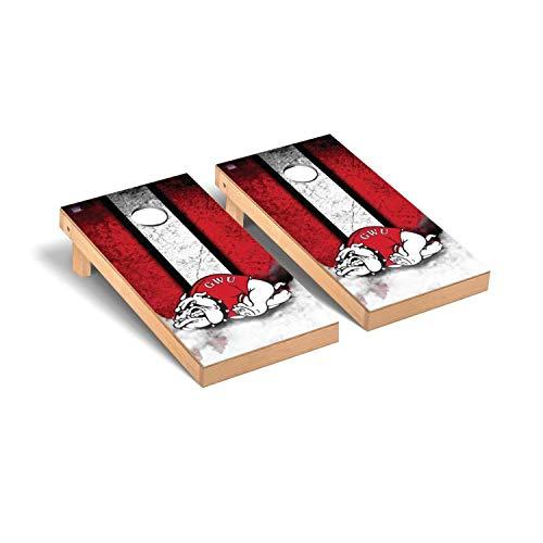 Victory Tailgate Regulation Collegiate NCAA Vintage Series Cornhole Board Set - 2 Boards, 8 Bags - Gardner Webb Bulldogs