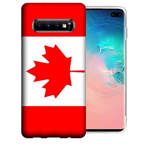 for Samsung Galaxy S10 Canada Flag Design TPU Gel Phone Case Cover