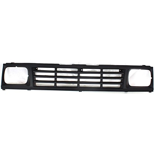 Evan-Fischer EVA1777209825 Grille for Mitsubishi Mitsubishi Pickup 87-89 Plastic Painted-Black