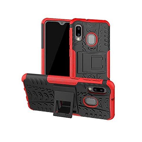 - 41CAPW3k8vL - SWMGO® Firmness Smartphone Case with Kickstand for Samsung Galaxy A20e/Samsung Galaxy A10e(Red) electronics - 41CAPW3k8vL - Home Page