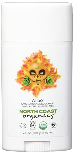 NORTH COAST ORGANICS Al Sol Organic Deodorant, 2.5 oz. (70.9 gr)