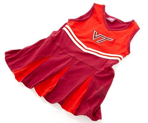 Elite Fan Shop Virginia Tech Hokies Infant Toddler Cheerleader Outfit - 6-9 Months - Maroon ()
