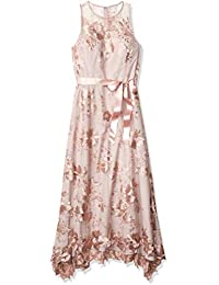 Women's Sleeveless Sequin Embroidered Knit Gown
