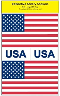 Amazoncom Reflective Safety Stickers USA Flag Automotive - Motorcycle helmet decals militarysubdued american flag sticker military tactical usa helmet decal