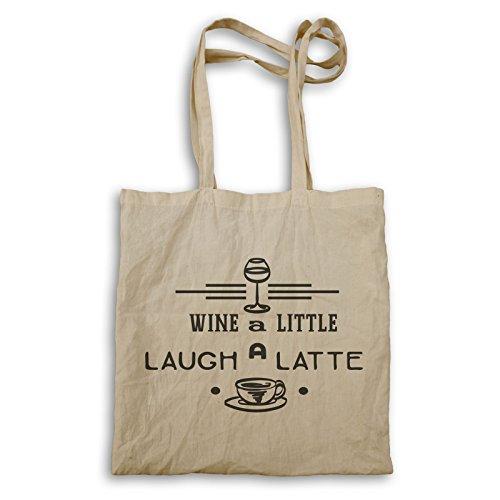 Wein Ein Wenig Lachen Ein Latte Tragetasche s533r