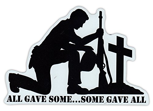 Fallen Sticker (Magnetic Bumper Sticker - Honor The Fallen, Live Free or Die - Military, POW MIA - 6.5
