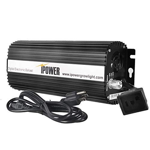 iPower 1000 Watt Digital Dimmable Electronic Ballast for HPS MH Grow Light -