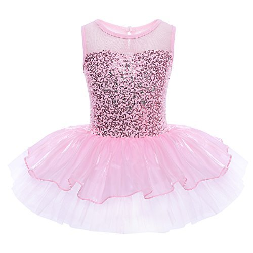 YiZYiF Baby Girl's Ballet Outfits Leotard Tutu Dancewear Party Dress (3-4(Shoulder to Crotch 17.0