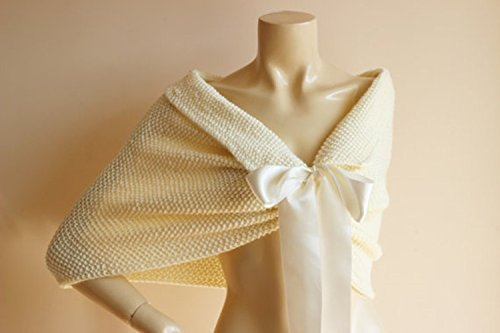 Amazon Cream Bridal Capelet Wedding Wrap Shrug Bolerohand